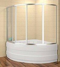 Badewannenaufsatz 120x120cm Duschbadewanne