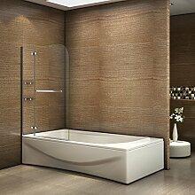 Badewannenaufsatz Duschabtrennung 100x140cm
