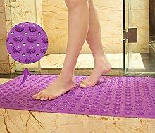 Badewanneneinlage Badematte Badewannenmatte Rutschfest Duscheinlage, DIKETE Anti-Rutsch Duschmatte mit Saugnäpfen für Badewanne Badezimmer Küche Balkon 71x36 cm lila