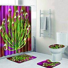 Badezimmer-16-Stück-Sätze Mit Blumen-Muster,