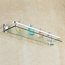 ✨ Badezimmer 6 mm Wandregal aus gehärtetem Glas
