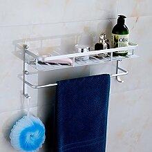 Badezimmer Accessoires Handtuchhalter Badezimmer Zubehör Aluminium dual-Rack 60cm Länge