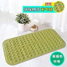 Badezimmer Anti-Rutsch-Matte Badezimmer Dusche Badewanne massage pad Sauger Sauger Kissen, Gras-grün 36 x 71 cm