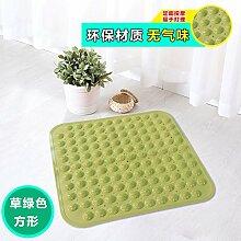 Badezimmer Anti-Rutsch-Matte Badezimmer Dusche Badewanne massage pad Sauger Sauger Kissen, Gras-grün 48 x 48 cm