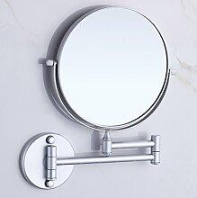 Badezimmer Badezimmer Badezimmer Klappspiegel Raum Aluminium doppelseitigen Spiegel versenkbaren Make-up Spiegel