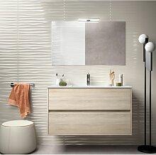Badezimmer Badmöbel 100 cm aus braunem Holz