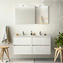 Badezimmer Badmöbel 120 cm aus glänzend weiß