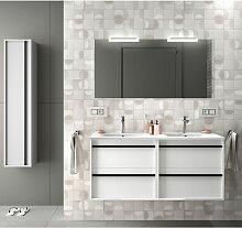 Badezimmer Badmöbel 120 cm aus glänzendes Weiß