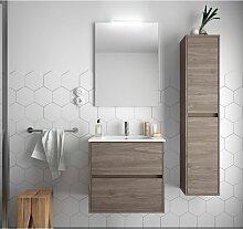 Badezimmer Badmöbel 60 cm aus Eiche eternity Holz