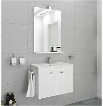 Badezimmer Badmöbel 60 cm Ocean aus glänzend