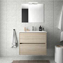 Badezimmer Badmöbel 70 cm aus braunem Holz