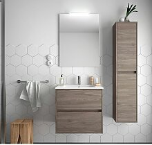 Badezimmer Badmöbel 70 cm aus Eiche eternity Holz
