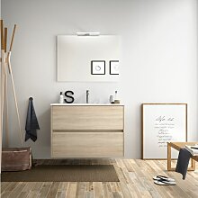 Badezimmer Badmöbel 80 cm aus braunem Holz