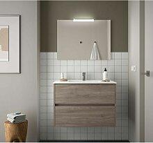 Badezimmer Badmöbel 80 cm aus Eiche eternity Holz