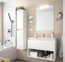 Badezimmer Badmöbel 80 cm aus Glänzendes Weiß