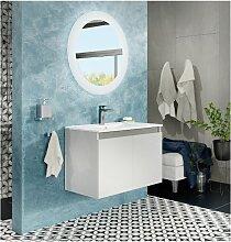 Badezimmer Badmöbel 80 cm Moon aus glänzend