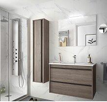 Badezimmer Badmöbel 80 cm Nevada aus Eiche