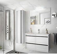 Badezimmer Badmöbel 80 cm Nevada aus Glänzendes