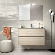 Badezimmer Badmöbel 90 cm aus braunem Holz