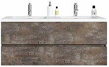 Badezimmer Badmöbel Coni 120 cm Ash Stone -