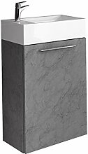 Badezimmer Badmöbel Madrid 40x22 cm gris -