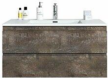Badezimmer Badmöbel Set Angela 100cm Stone ash -