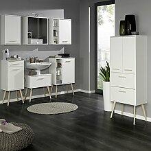 Badezimmer Badmöbel Set LECCE-03, 7-teilig, weiß