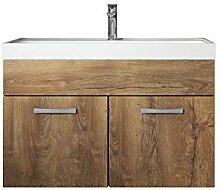 Badezimmer Badmöbel Set Paso 01 80 cm Waschbecken