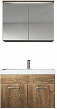 Badezimmer Badmöbel Set Paso 02 80 cm Waschbecken