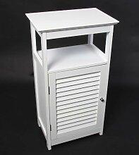 Badezimmer Bodenschrank Kommode, 45x30x83 cm, weiß