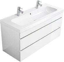 Badezimmer Doppelwaschtisch KODIAK-02 in Hochglanz