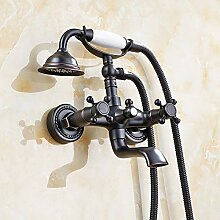 Badezimmer Dusche mit abnehmbarem Duschkopf antik