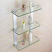 Badezimmer Dusche Regal gehärtetes Glas Regal