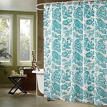 Badezimmer Duschvorhang Dick Wasserdichte Polyester Badezimmer Duschvorhang Tuch Trennwand Vorhang ( größe : 260*200cm )