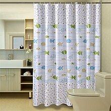 Badezimmer Duschvorhang Mehltau Wasserdicht Thick Blackout Vorhang Trennvorhang Vorhänge ( größe : 100*180cm )