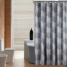 Badezimmer-Duschvorhang Polyester verdickte wasserdichte Schimmel-verschärfte Blei, um Haken zu senden ( Farbe : Gray , größe : 180*200cm )