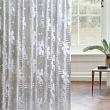 Badezimmer Duschvorhang Toilette Trennwand Vorhang Schimmel Wasserdichter dicken Vorhang ( Farbe : A , größe : 180*240cm )