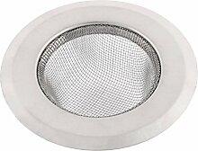 Badezimmer Edelstahl Waschbecken Abfall Abfluss Sieb Filter 9cm Außendurchmesser
