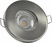 Badezimmer Einbaustrahler IP65 | Farbe Edelstahl