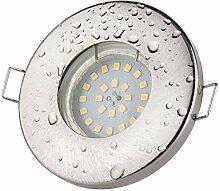 Badezimmer Einbaustrahler IP65   Farbe Edelstahl