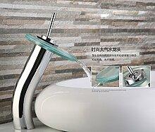 Badezimmer Einhebelsteuerung Glas Wasserfall