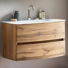 Badezimmer Einzelwaschtisch 80 cm Wotaneiche Nb.
