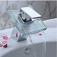 Badezimmer Glas Wasserfall mit einzigen Griff