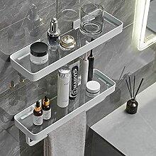 Badezimmer-Glasregal mit Handtuchhalter, 39,9 cm,