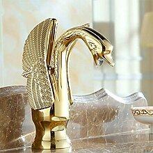 Badezimmer-Hahn Goldener Schwan Bassinhahn Luxus