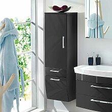 Badezimmer Hochschrank in Hochglanz Anthrazit 40