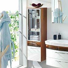 Badezimmer Hochschrank mit Glastür Hochglanz