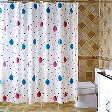 Badezimmer Hotel Wasserdichte Duschvorhänge Badezimmer Abgeschnitten Moisture Verdickung Toilette Vorhänge ( größe : 80*180cm )