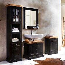 Badezimmer Kombination im Kolonialstil Schwarz und
