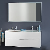 Badezimmer Kombination mit Doppelwaschbecken Weiß
